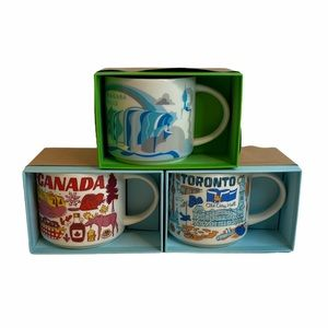 Starbucks NIAGARA FALLS TORONTO CANADA Mugs RARE
